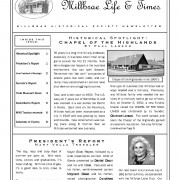 Millbrae Historical Society Spotlight Article June, 2008