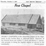 Article in the Millbrae Sun Friday, October 3, 1952