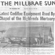 Article in the Millbrae Sun Thursday, April 25, 1957