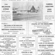 Welcome ad in The California Legionnaire Wednesday, October 1, 1952